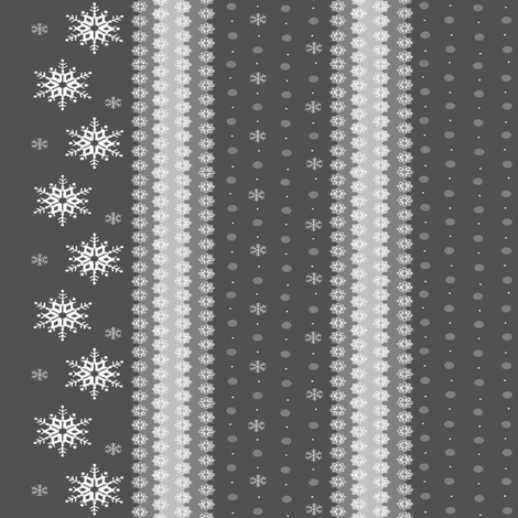 snowflakes_on_grey5 fabric by elizabethjones on Spoonflower - custom fabric