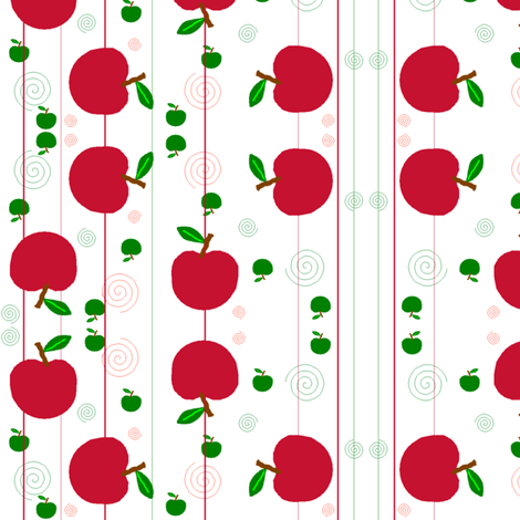 apples fabric by squeakyangel on Spoonflower - custom fabric