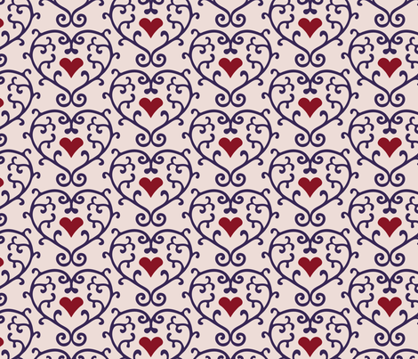 Russian Heart fabric by kezia on Spoonflower - custom fabric