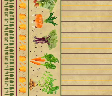 My Vegetable Garden Vegetables fabric by jabiroo on Spoonflower - custom fabric
