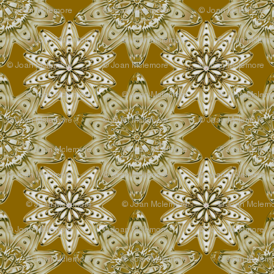 Ornamentation sienna metallic