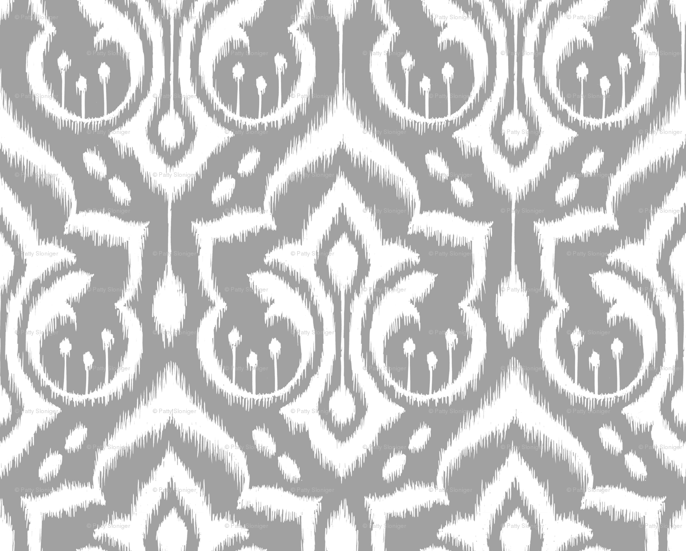 Gray Ikat Background Ikat Damask Gray Skies