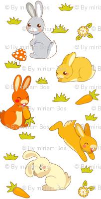 bunnies | white