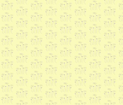 Yellow Dandis fabric by garwooddesigns on Spoonflower - custom fabric