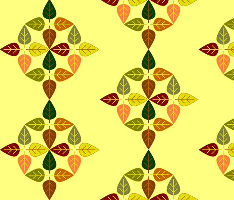 leaves4a fabric by elizabethjones on Spoonflower - custom fabric