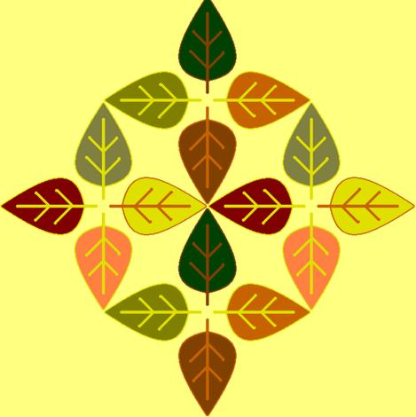 leaves4a fabric by squeakyangel on Spoonflower - custom fabric