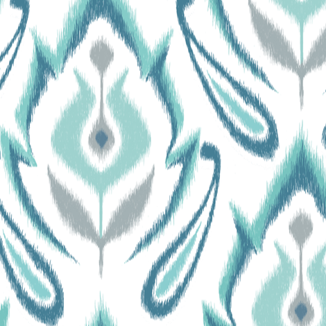 Cool Blue IKAT fabric by pattysloniger on Spoonflower - custom fabric