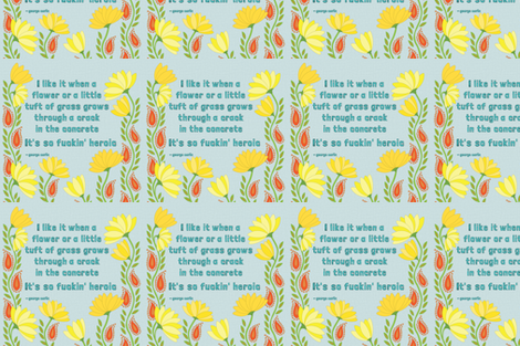 Heroic Flora fabric by katieschrader on Spoonflower - custom fabric