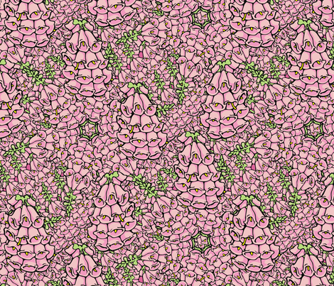 foxglove  fabric by hannafate on Spoonflower - custom fabric