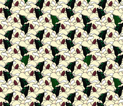 magnolia fabric by hannafate on Spoonflower - custom fabric
