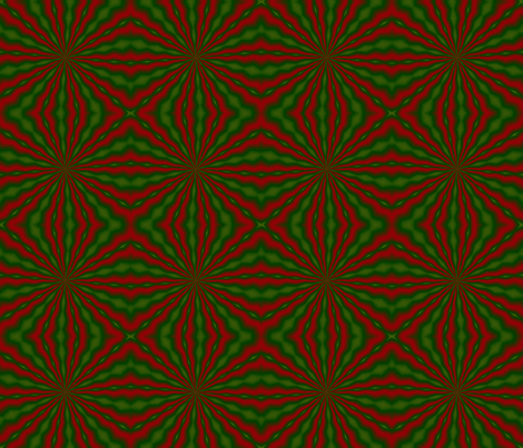 Christmas Kaleidoscope 02 fabric by katsanders on Spoonflower - custom fabric