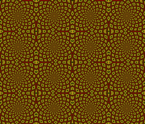 Christmas Kaleidoscope 03 fabric by katsanders on Spoonflower - custom fabric