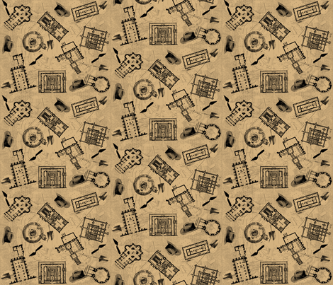 archaeologists - parchment fabric by glimmericks on Spoonflower - custom fabric