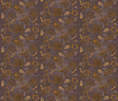 archaeologists - brass fabric by glimmericks on Spoonflower - custom fabric