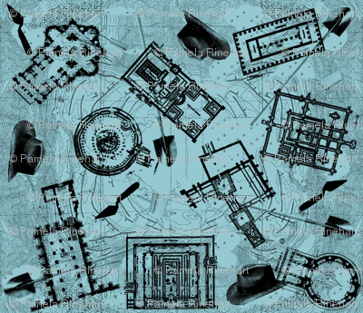 archaeologists - blueprint