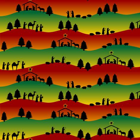 Bethlehem Hills fabric by jasmo on Spoonflower - custom fabric