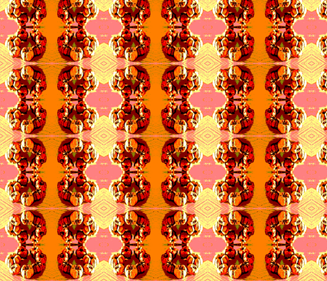 pumpkin_wreath fabric by vinkeli on Spoonflower - custom fabric