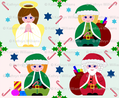 Angel, Santa & Elves too!