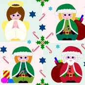 Rangel__santa___elves_revised_colours___red___green_background_shop_thumb
