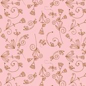 Simple Life - Brown on Pink