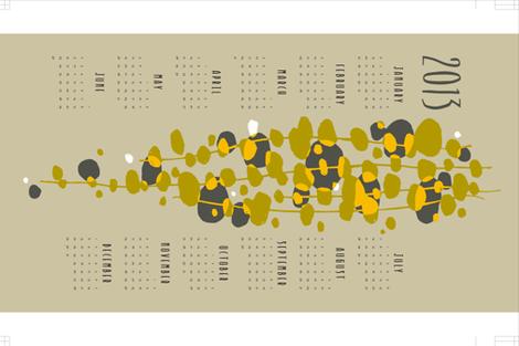 mod vine calendar fabric by monmeehan on Spoonflower - custom fabric