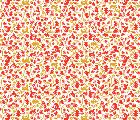 Autumn Calico fabric by acbeilke on Spoonflower - custom fabric