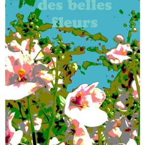 des belles fleurs - blue bag