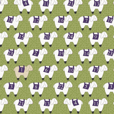 Counting Sheep fabric by glimmericks on Spoonflower - custom fabric