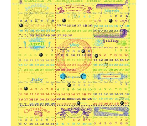 2012-A Magical Year fabric by marionwilhelm on Spoonflower - custom fabric