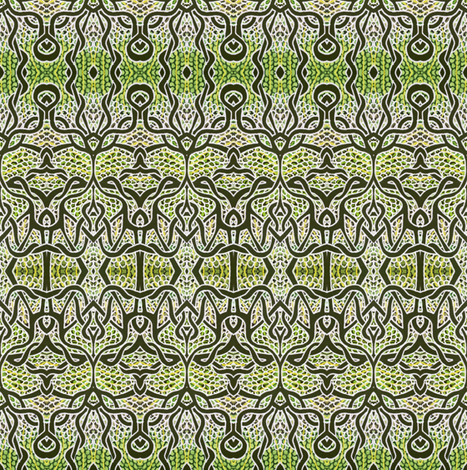 Gothique Nouveau (alligator skin) fabric by edsel2084 on Spoonflower - custom fabric