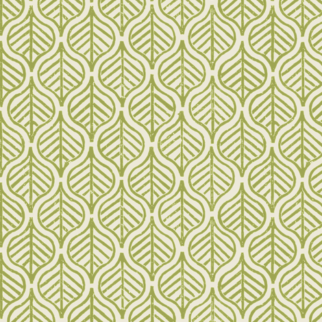 Indian Leaf / Grass & Natural fabric by mjdesigns on Spoonflower - custom fabric