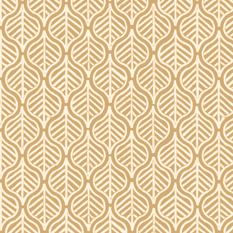 Indian Leaf / Taupe & Cream fabric by mjdesigns on Spoonflower - custom fabric