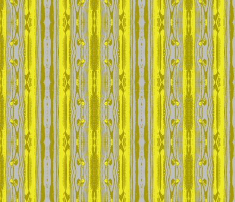 Woodgrain in Yellow and Grey fabric by bluenini on Spoonflower - custom fabric