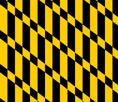Maryland Flag Stripes fabric by terridee on Spoonflower - custom fabric