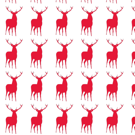 red deer fabric by chibboom on Spoonflower - custom fabric