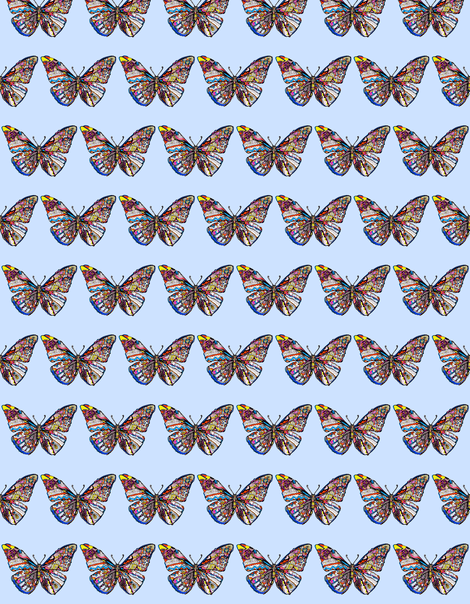 butterfly fabric by claravox on Spoonflower - custom fabric