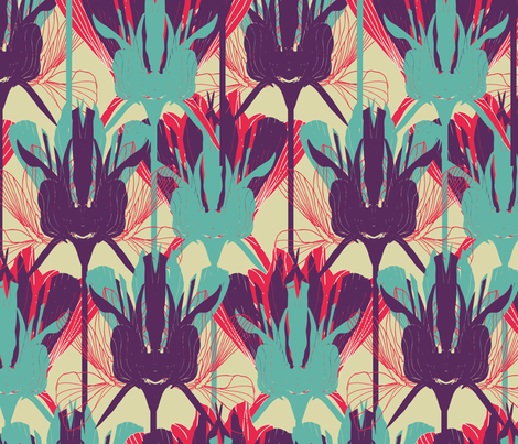 Iris fabric by liinapalkov on Spoonflower - custom fabric