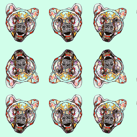 bear fabric by claravox on Spoonflower - custom fabric