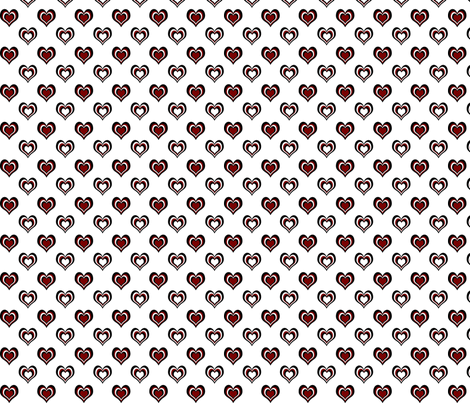 Black 'n' Heats multi small fabric by glanoramay on Spoonflower - custom fabric