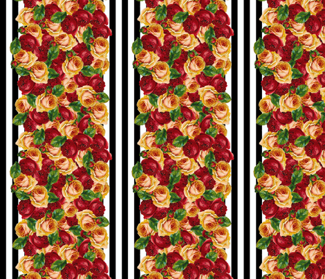 Black 'n' Hearts wallpaper large fabric by glanoramay on Spoonflower - custom fabric