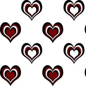 Black 'n' Hearts multi large
