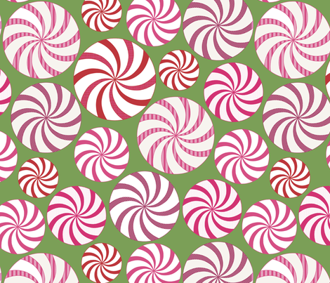 peppermint candy fabric by littlerhodydesign on Spoonflower - custom fabric