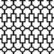 geometric chain in black white