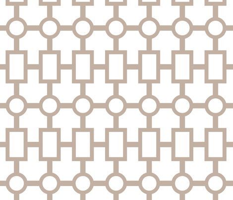 geometric chain in stone fabric by domesticate on Spoonflower - custom fabric