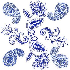 Ming Blue Lotus