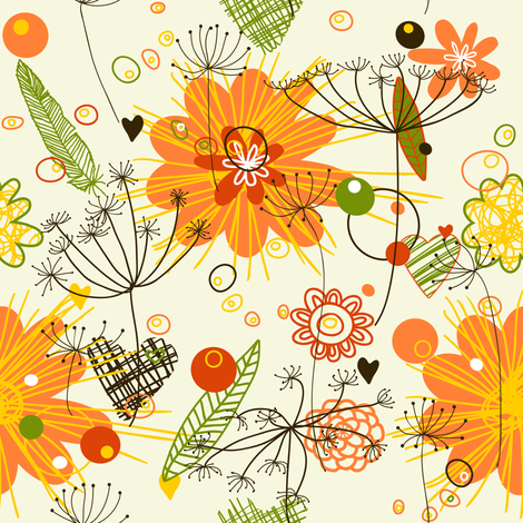 Floral fabric by yaskii on Spoonflower - custom fabric