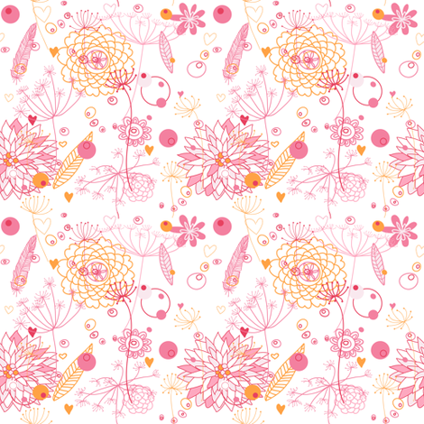 Floral. fabric by yaskii on Spoonflower - custom fabric