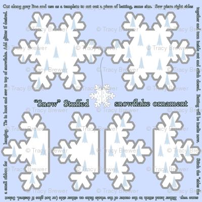 Snow Stuffed Snowflake Ornament