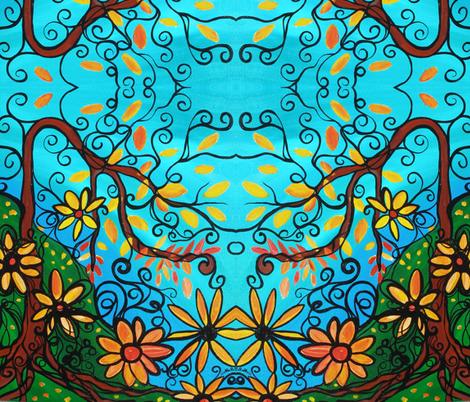 Beautiful Fun Fall Day fabric by heatherpeterman on Spoonflower - custom fabric