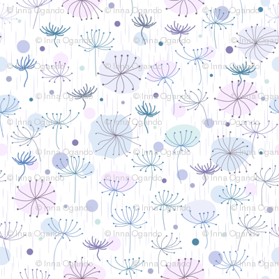 Herbs. Blue, violet.